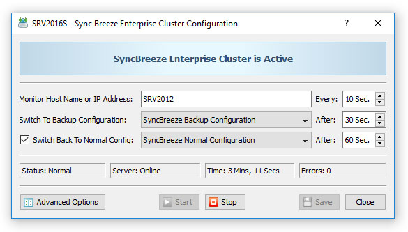 SyncBreeze Enterprise Cluster Configuration
